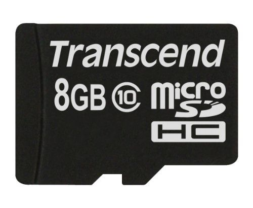 Transcend Premium 133x 8GB MicroSDHC Class 10 Memory Card