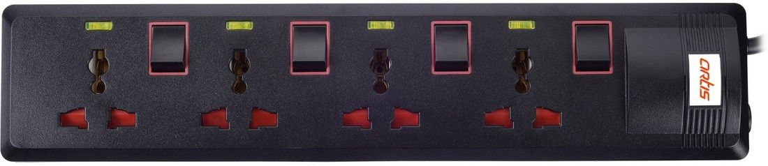 Artis AR-SP400MS 4 Socket Spike Surge Protector...
