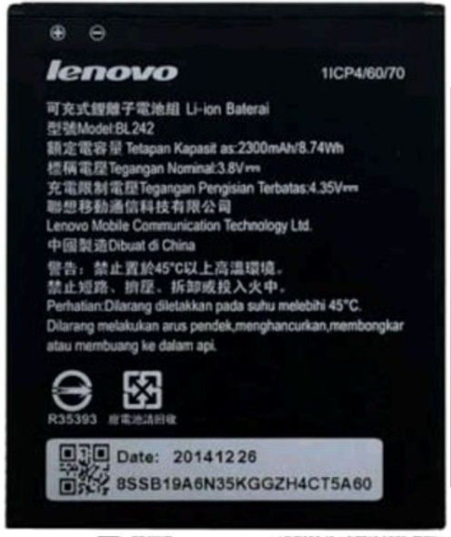 Lenovo BL242 2300mAh Battery (For A6000)