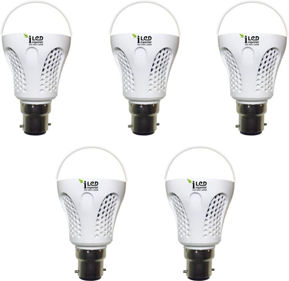 Imperial 9W-WW-BC22-3547 Pin LED Bulb (Yellow, Pack Of 5)