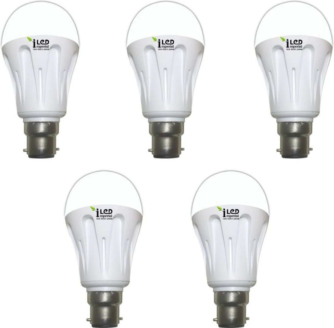Imperial 9W-CW-BC22-3572 Pin LED Bulb (White, Pack Of 5)