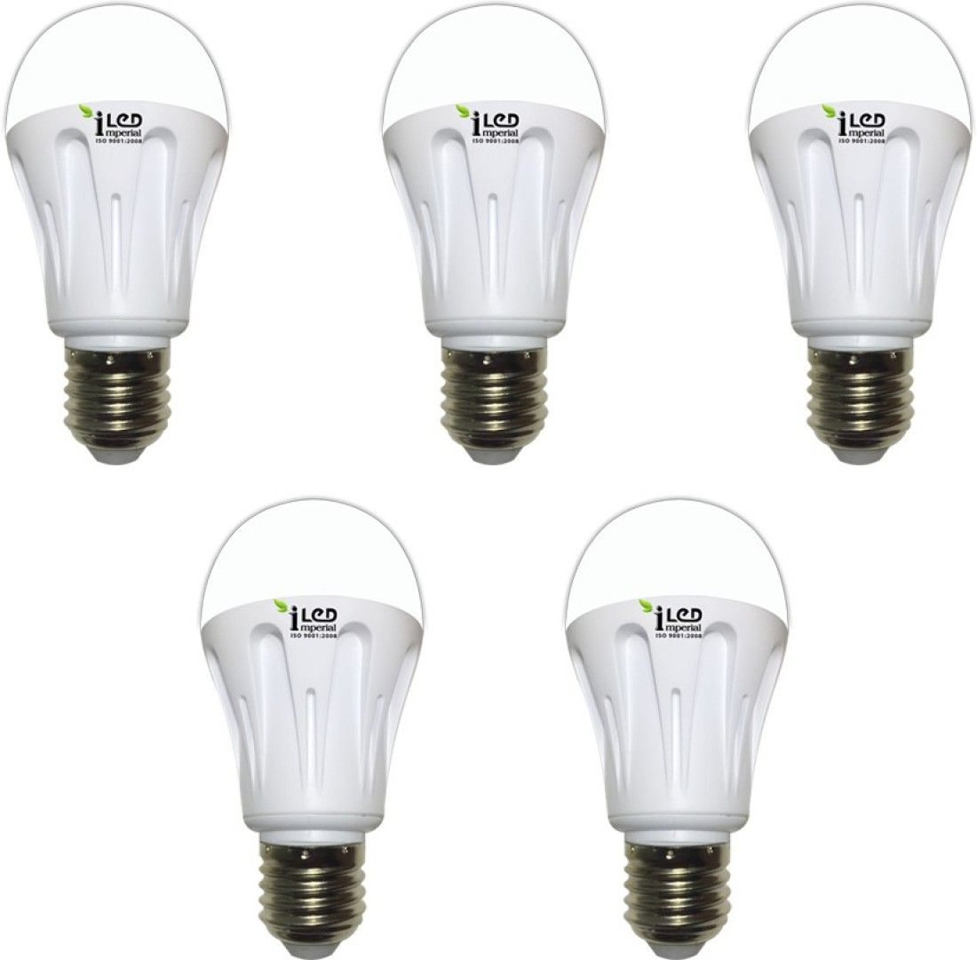 Imperial 9W-CW-E27-3570 Screw LED Bulb (White, Pack of 5)