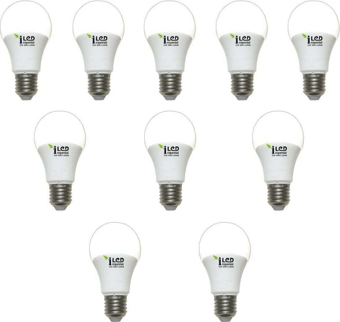 Imperial 7W-WW-E27-3593 LED Premium Bulb (Yellow, Pack of 10)