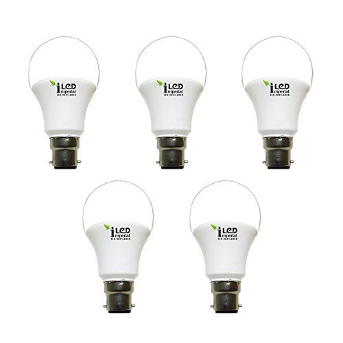 Imperial 9W-CW-BC22-3604-5 Pin LED Bulb (White, Pack Of 5)