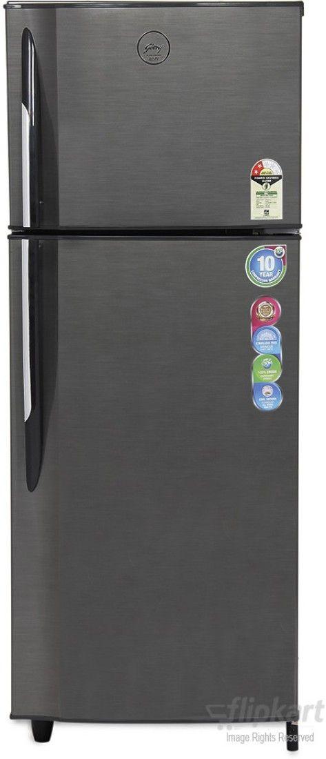Godrej RT EON 260 P 2.3 260 Litres Double Door Refrigerator  (Silver Strokes)