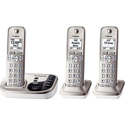 Panasonic KX-TGD223N Dect 6.0 Trio Cordless Landline Telephone
