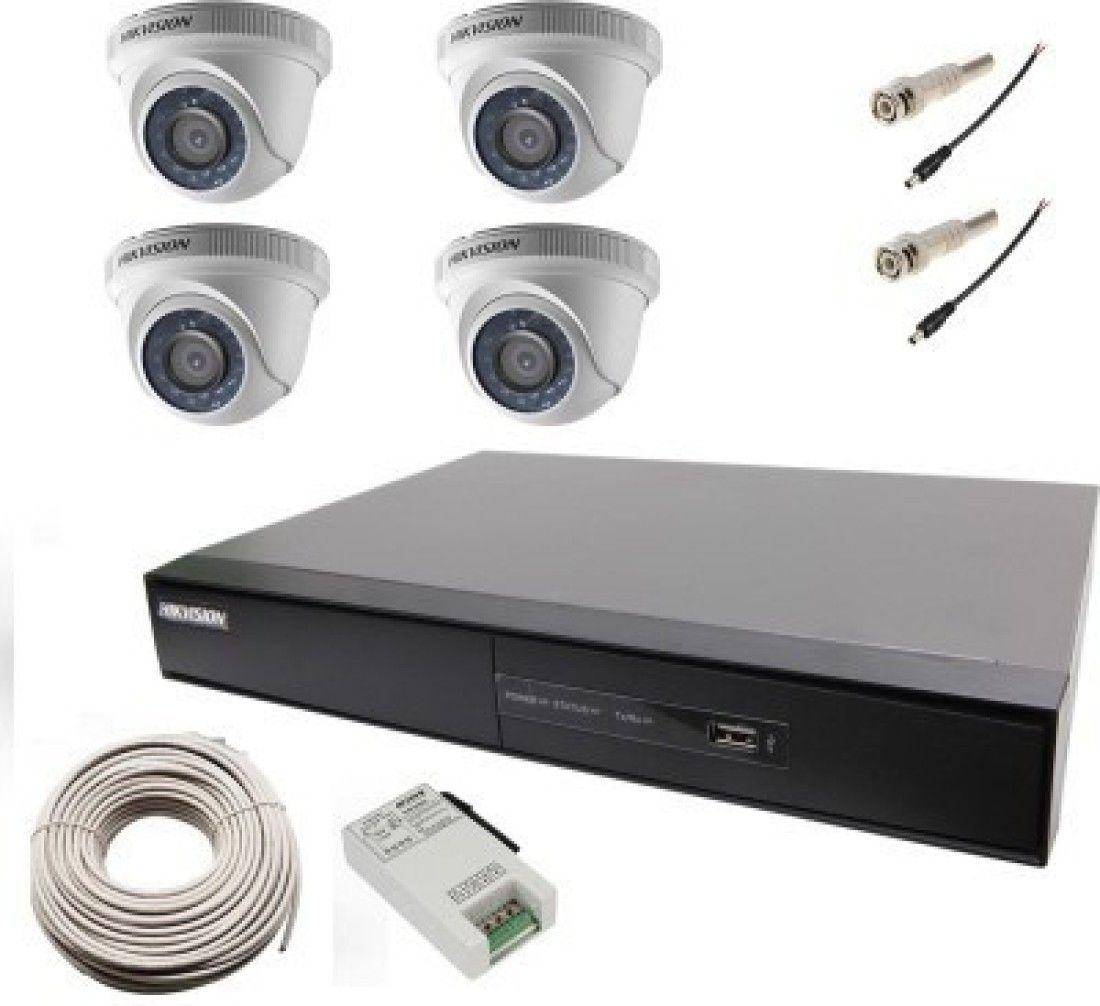 Hikvision DS-7104HGHI-E1 4CH Dvr, 4(DS-2CE56C0T...
