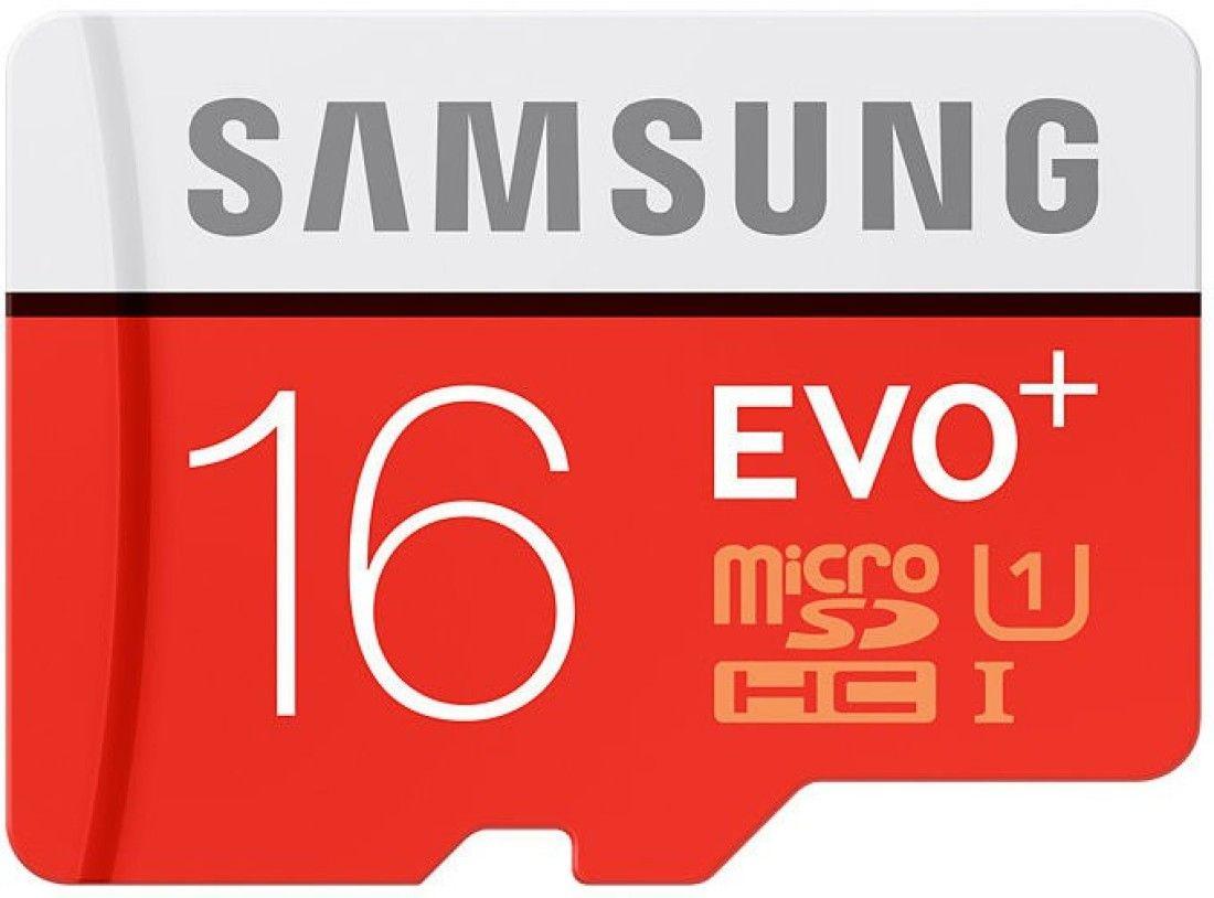 Samsung EVO Plus 16GB MicroSDHC Class 10 (80MB/s) UHS-1 Memory Card