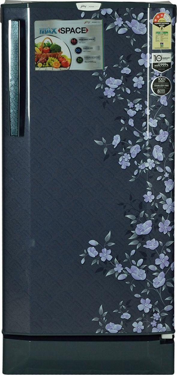 Godrej RD Edge Pro 190 CT 5.2 190 L 5S Single Door Refrigerator (Indigo Floret)