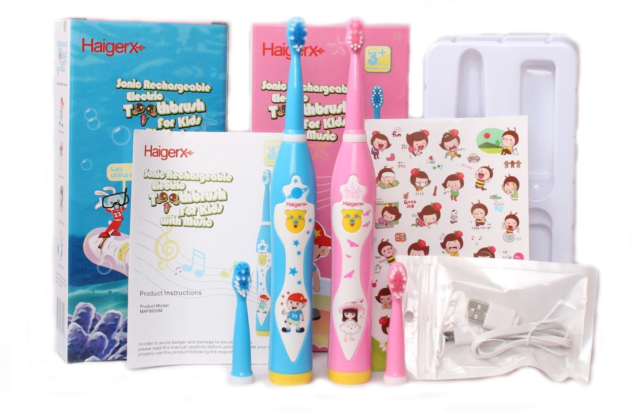 HaigerX Rechargeable With Music Electric Toothbrush