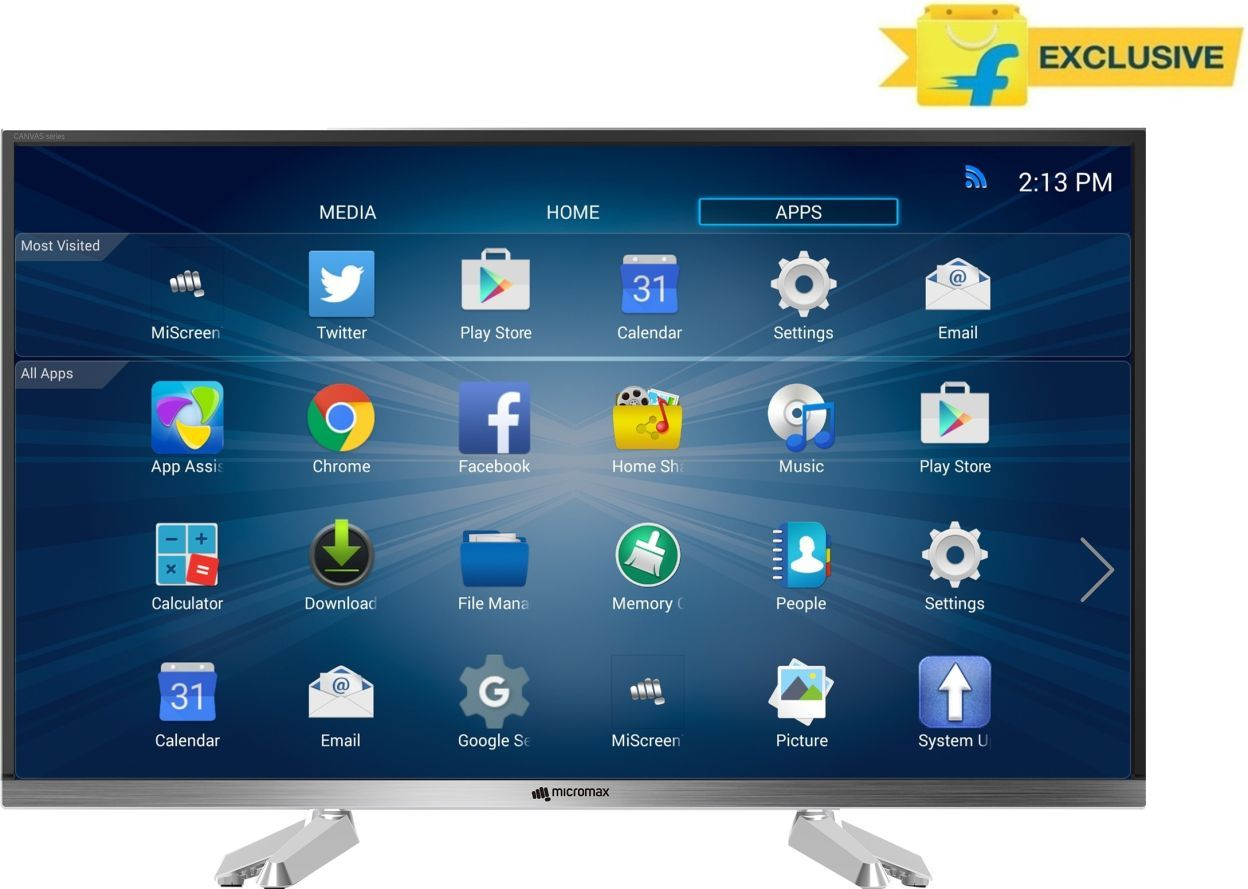 Micromax 32 CANVAS-S 32 Inch HD Ready Smart LED TV