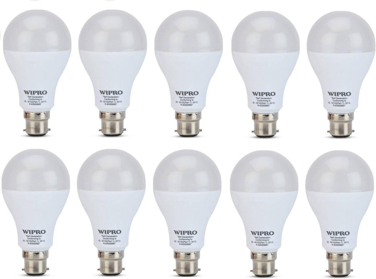 Wipro Garnet 14W B22 LED Bulb (White, Pack of 10)