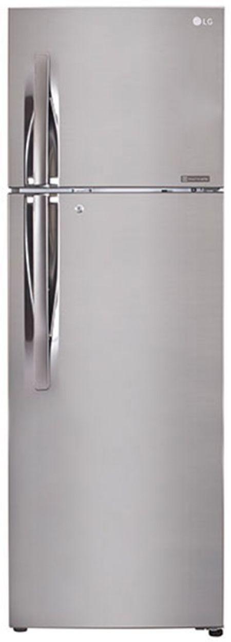 LG GL-Q282RPZY 255 L 3 Star Inverter Frost Free Double Door Refrigerator (Shiny Steel)