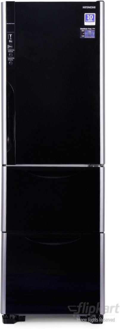 Hitachi R-SG37BPND-GS/GBK 390Litres 4S inverter  Triple Door Refrigerator