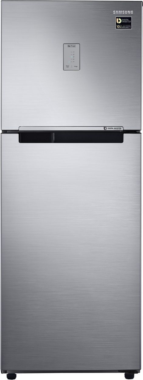 Samsung RT28M3424S8 253 L 4 Star Inverter Frost Free Double Door Refrigerator (Elegant Inox)