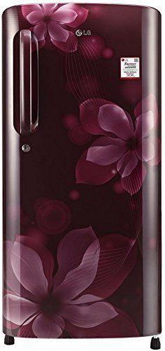 LG GL-B201ASOX.ASOZEBN  190 L 4 Star Inverter Direct Cool Single Door Refrigerator (Scarlet Orchid)