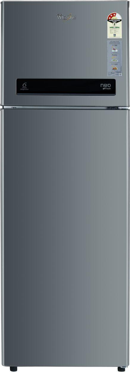 Whirlpool Neo DF305 PRM 292L 3S Double Door Refrigerator (Alpha Steel)