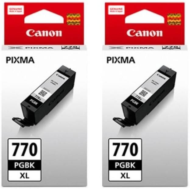 Canon Pixma 770XL Black Ink Cartridge (Twin Pack)
