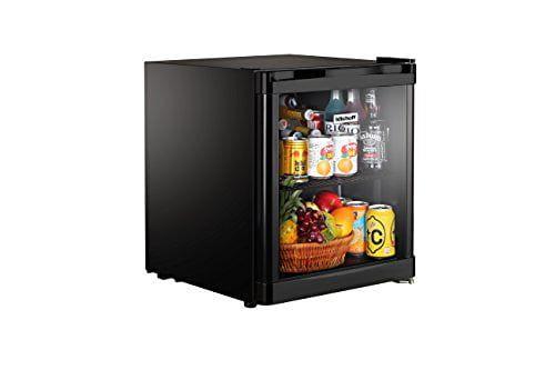 Kitchoff 50L Aluminium & Glass Door Mini Refrigerator