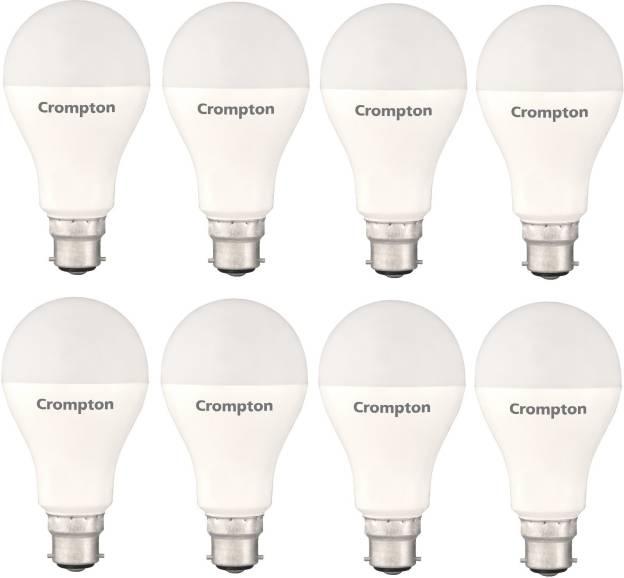 Crompton 18W Standard B22 1800L LED Bulb (White,Pack of 8)