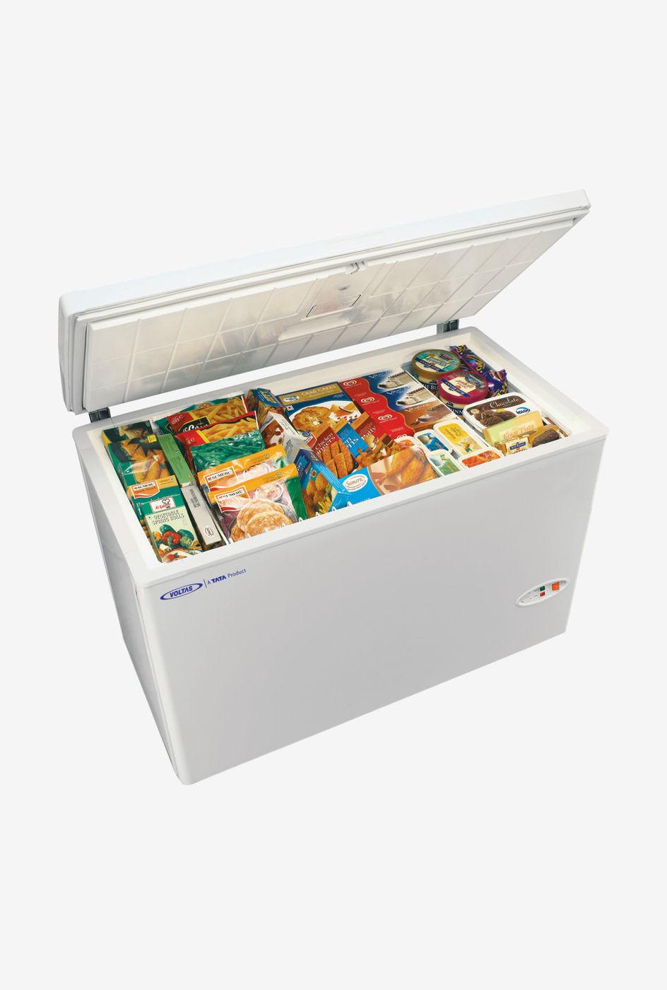 Voltas 320 L Metal Top Single Door Deep Freezer