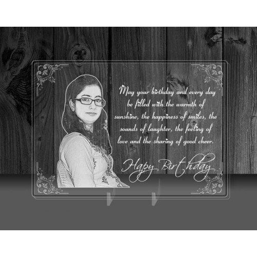 Personalized Photo and Message on a Glass - Gift for Birthday
