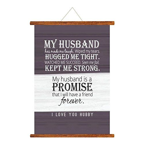 YaYa cafe TYYC Birthday Gifts For Husband, My Husband Is My Friend Forever Love Scroll Greeting Card| Birthday Anniversary Cards - 10.5X10.5 Inches