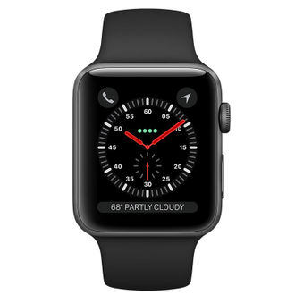 Apple Watch Series 3 GPS Space Gray Aluminum Case with Black Sport Band 38 mm