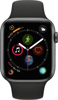 Apple Watch Series 4 GPS Space Gray Aluminum Case with Black Sport Band 4.4cm