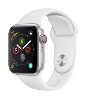 Apple Watch Series 4 GPS Cellular Silver Aluminium Case with White Sport Band 40mm