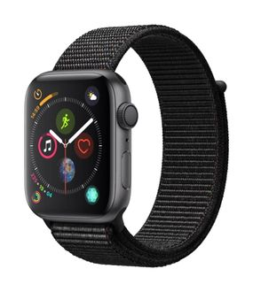 Apple Watch Series 4 GPS Space Grey Aluminium Case with Black Sport Loop 44mm