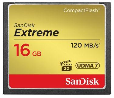 Sandisk Extreme CF 16GB (UDMA 7) 120 Mbps Memory Card