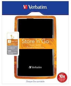 Verbatim Store N Go Super Speed 1TB USB 3.0 External Hard Disk