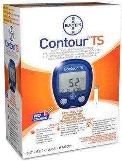 Bayer Contour TS Blood Glucose Test Strips - 50 Strips