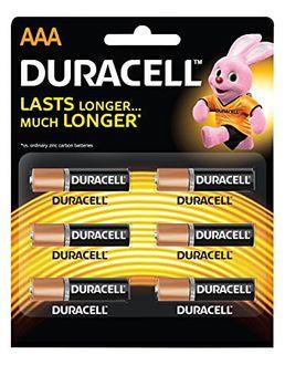 Duracell AAA Alkaline Battery (6 Pcs)