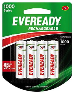 Eveready 1000 Series 700 mah Rechargeable Battery (4Pcs)