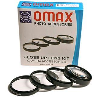 Omax 58mm Closeup Macro Lens Filter Kit