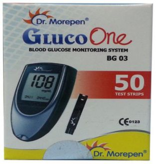 Dr. Morepen Bg03 Gluco One 50 Test Strips (No Glucometer)