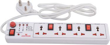 Anchor 22047 4 Socket Single Switch Spike Guard