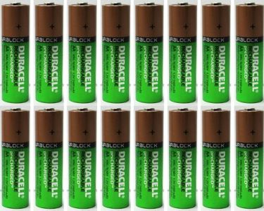 Duracell 2400mAh 16 X  Rechargeable NiMH Precharged   AA Batteries