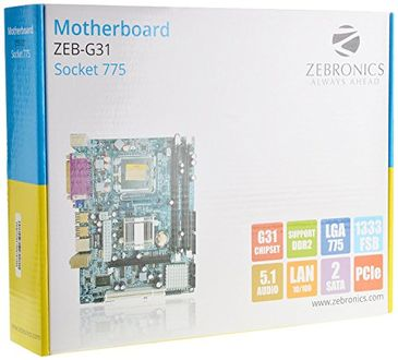 Zebronics ZEB-G31 (Socket 775) Mother Board