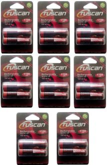 Tuscan AA Ni-Mh 1.2v 1100mAh (Pack Of 8) Rechargeable Battery