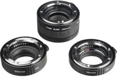 Kenko Auto Extension Tube Set DG 12mm,20mm,36mm Tubes(For Canon EF/EFS / Nikon-AF / Sony Alpha)