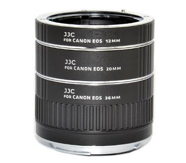JJC AET-CS Auto Extension Tube Set (With 12mm, 20mm and 36mm)
