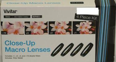 Vivitar 40.5mm Close Up Lens kit( +1 +2 +4 +10)