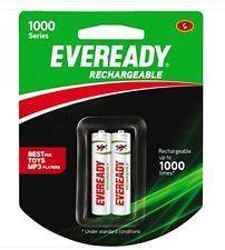 Eveready 1000 Series 700mAh Rechargeable Batteries (2Pcs)