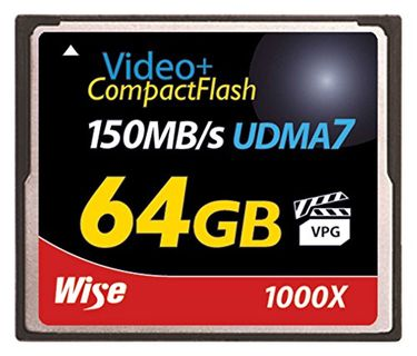 Wise 64GB Compact Flash 1000X 150MB/s Memory Card