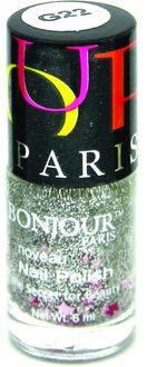 Bonjour Paris Glitter Nail Polish (Silver-Blue Stars Glitters)