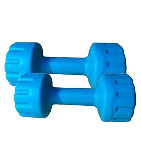 Aurion PVC Dumbbell 1 KG (Pack of 2)
