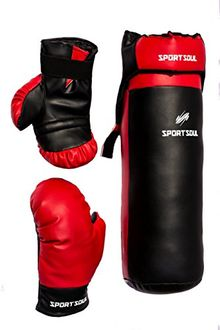 SportSoul Kid's Boxing Set (Punching Bag, Gloves and Headgear)